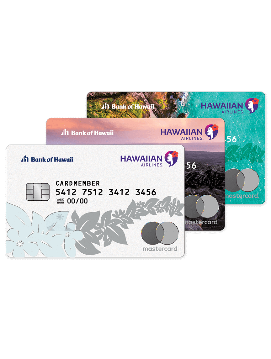 Hawaiian Airlines Bank of Hawaii World Elite Mastercard - 3 designs