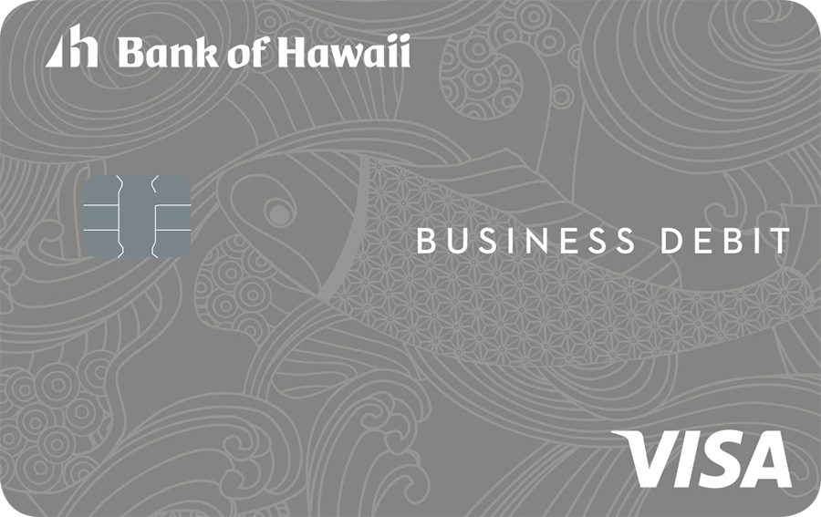 Bank of Hawaii Visa debit card for business